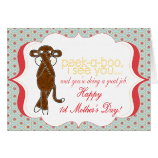 Peekaboo o primeiro cartão do dia das mães