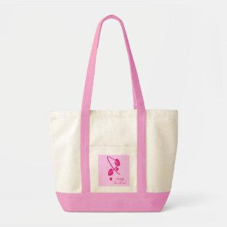 Pegadas cor-de-rosa da fita eu ando para uma cura  bolsa de lona