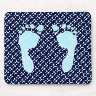 Pegadas do bebê menino mouse pads
