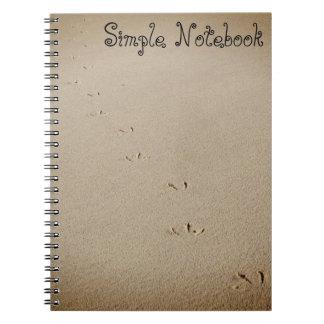 Pegadas do pássaro caderno