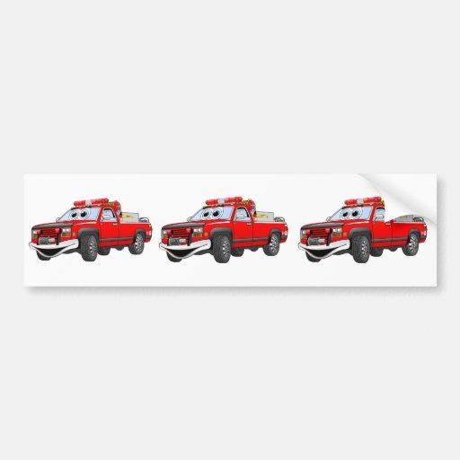 Pegare desenhos animados do carro de bombeiros adesivo