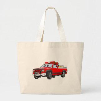Pegare desenhos animados do carro de bombeiros bolsa de lona