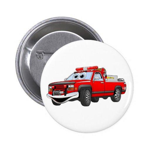 Pegare desenhos animados do carro de bombeiros botons