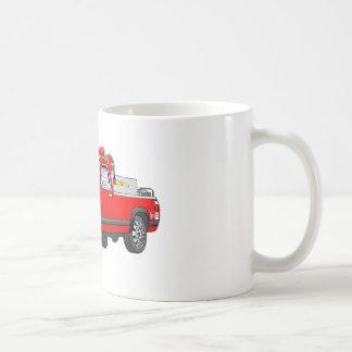 Pegare desenhos animados do carro de bombeiros caneca