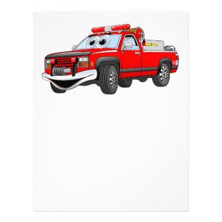 Pegare desenhos animados do carro de bombeiros papel de carta personalizados