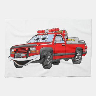 Pegare desenhos animados do carro de bombeiros toalha de mão