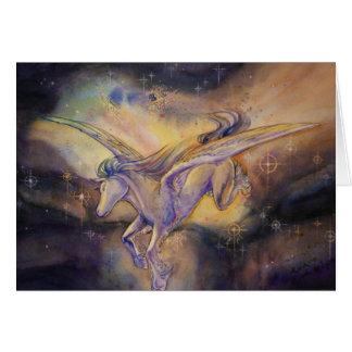 Pegasus com nebulosa cartão