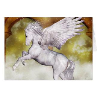 Pegasus elegante cartão