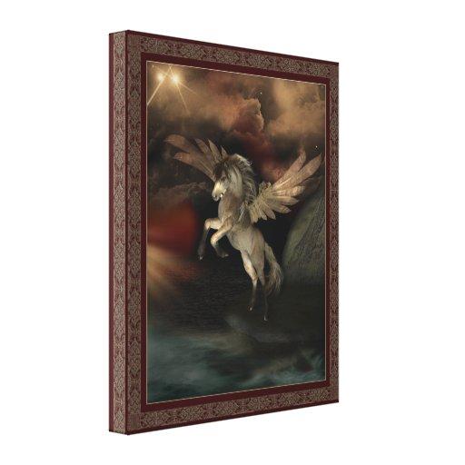 Pegasus limitou canvas da parede do impressão impressão em tela