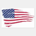 Pegatina Bandera USA - M1 Adesivo Retangular