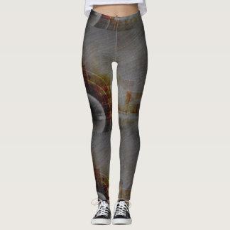 Peggings modelados abstrato do cinza legging