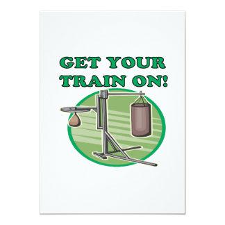 Pegue seu trem sobre convite 12.7 x 17.78cm