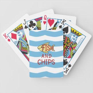 Peixe com batatas fritas 2 jogos de cartas