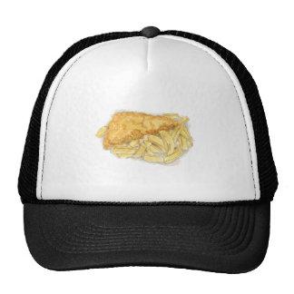 peixe com batatas fritas boné