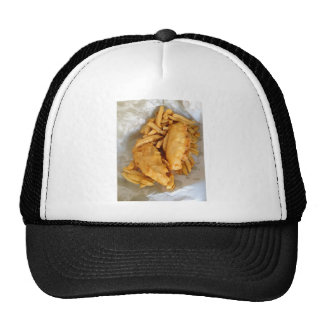 Peixe com batatas fritas bones