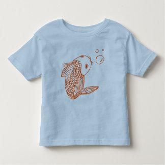 Peixe dourado alaranjado camiseta infantil