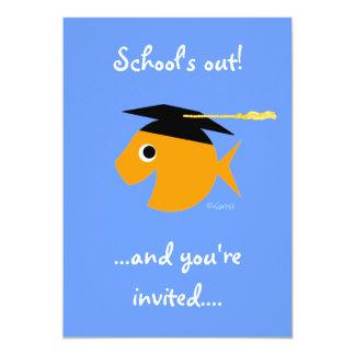 Cartão Peixe dourado bonito do convite da festa de