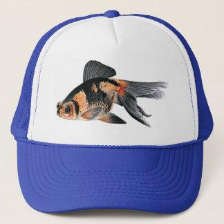Peixe dourado preto da laranja de n boné