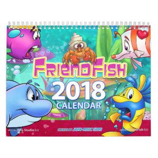 Peixes 2018 dos desenhos animados do calendário de