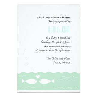 Peixes 2 do amor convite 12.7 x 17.78cm