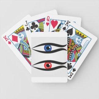 Peixes abstratos com grande globo ocular para baralhos de pôquer