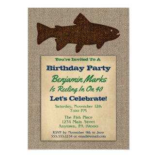 Peixes adultos rústicos dos homens do convite do