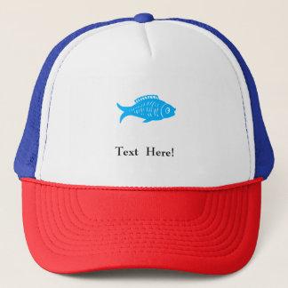 Peixes azuis boné