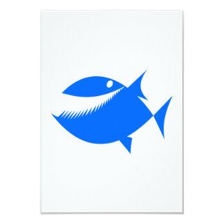 Peixes azuis dos desenhos animados convite personalizado
