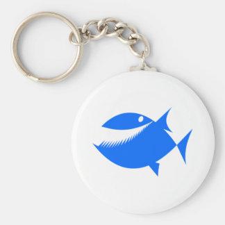 Peixes azuis dos desenhos animados chaveiros