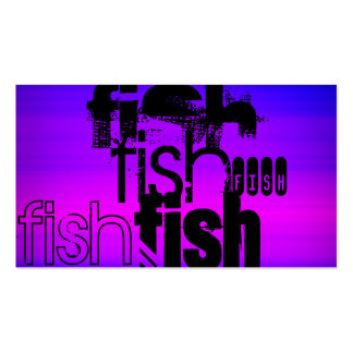 Peixes; Azul violeta e magenta vibrantes Cartão De Visita