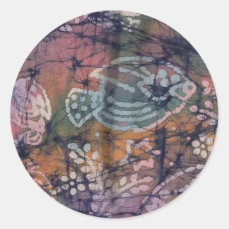 Peixes & Batik floral da Laço-Tintura Adesivo