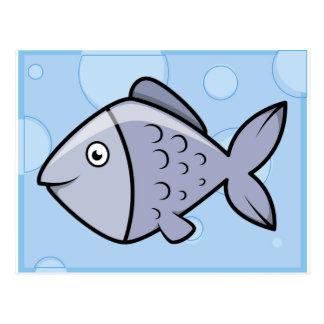 Peixes bonitos dos desenhos animados cartão postal