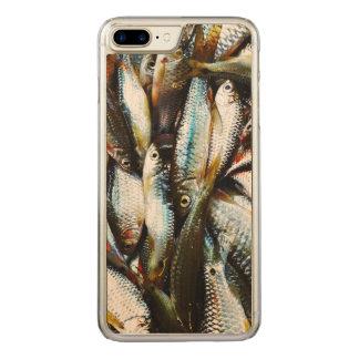 Peixes brancos pequenos capa iPhone 7 plus carved