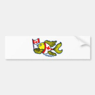 Peixes canadenses da bandeira adesivo para carro