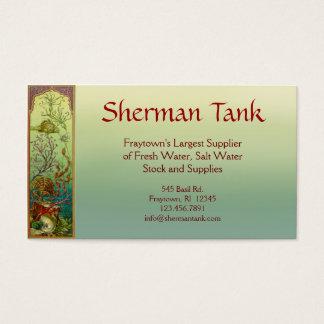 Peixes & cartão de visita tropicais das fontes