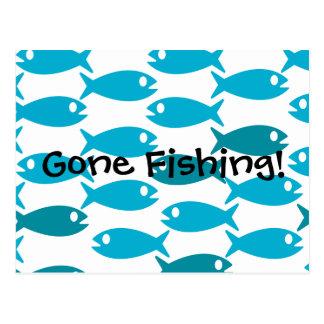 Peixes cartão temático Fishin ido!