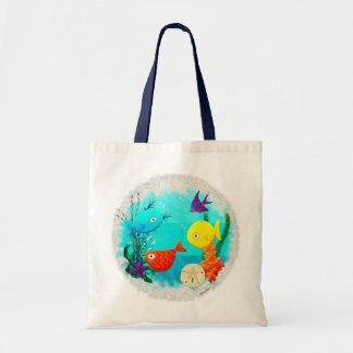 Peixes Childs dos desenhos animados do aquário da  Bolsa Para Compra