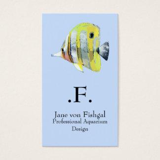 peixes Cobre-unidos da borboleta Cartão De Visitas