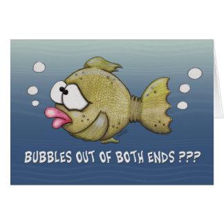 Peixes com bolhas fora do cartão de ambas as