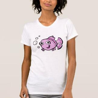 Peixes cor-de-rosa bonitos t-shirts