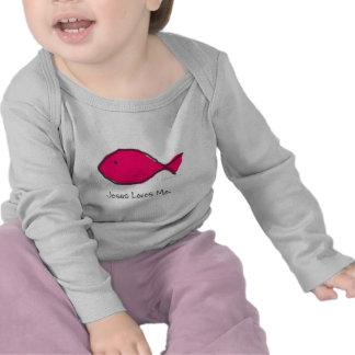 Peixes cor-de-rosa de Jesus Tshirts
