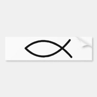 Peixes cristãos adesivo para carro