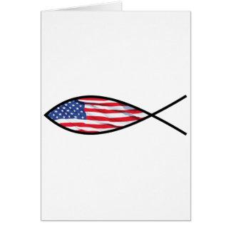 Peixes da bandeira cartão comemorativo