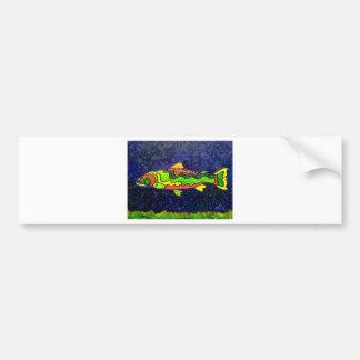 Peixes da cor adesivo para carro