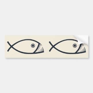 Peixes da evolução adesivo para carro
