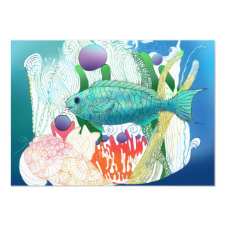 Peixes da quinzena convite personalizado