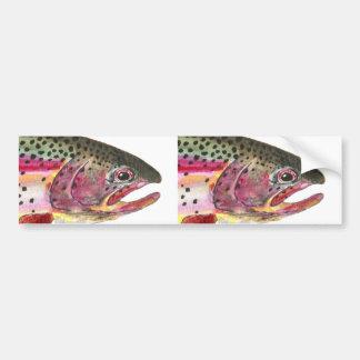 Peixes da truta de arco-íris adesivo para carro
