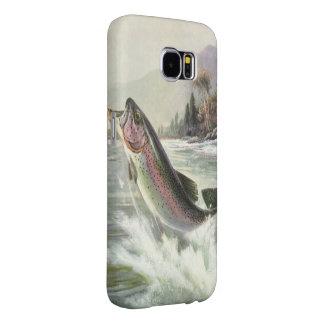 Peixes da truta de arco-íris da pesca do pescador capas samsung galaxy s6