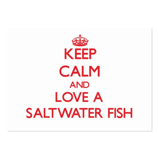 Peixes de água salgada cartoes de visitas