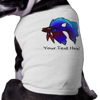 Peixes de Betta dos desenhos animados/peixes de Camisa Sem Mangas Para Cachorro